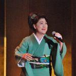 川中美幸:新曲「笑売繁昌」の縁で初披露した落語「時うどん」